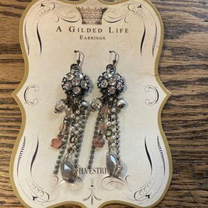 A Gilded Life Crown & Crystal Earrings!!! NWT!!!